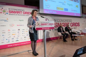 Blanca Losada - Presidenta -Futured - Detalle - Inauguracion -4 Congreso Smart Grids